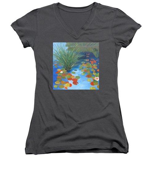 Pond Revisited Women's V-Neck T-Shirt