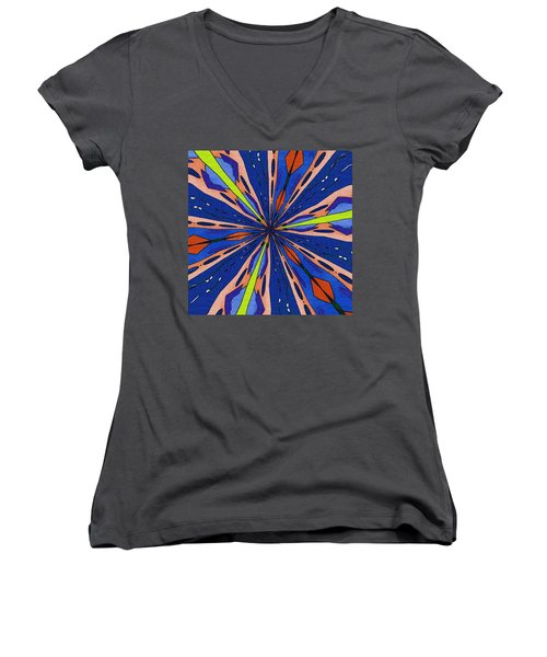 Portal To The Past Women's V-Neck T-Shirt (Junior Cut) by Alec Drake