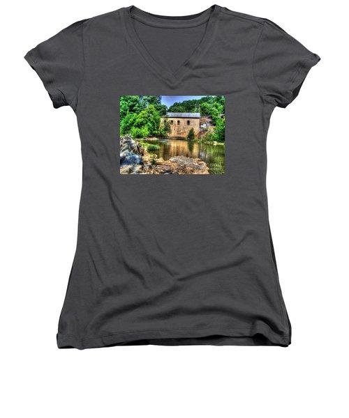 Powerhouse Women's V-Neck T-Shirt (Junior Cut) by Dan Stone