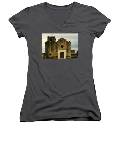 Presidio La Bahia Women's V-Neck T-Shirt (Junior Cut) by Vivian Christopher
