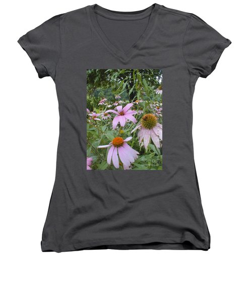 Purple Coneflowers Women's V-Neck T-Shirt