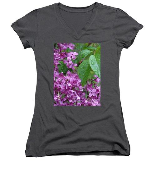 Purple Lilac Women's V-Neck (Athletic Fit)