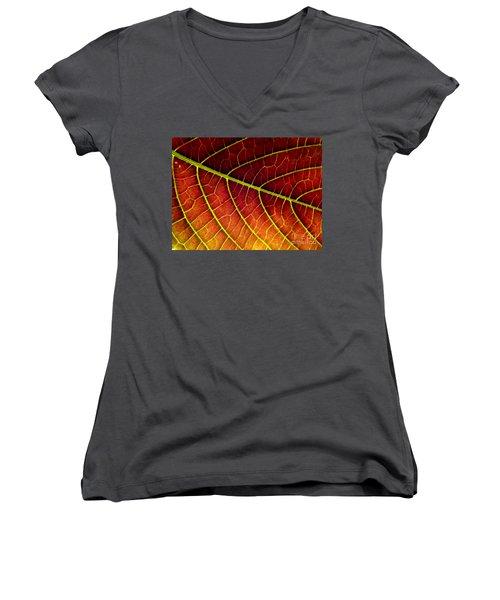 Red Leaf Women's V-Neck T-Shirt
