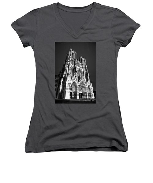 Reims Cathedral Women's V-Neck (Athletic Fit)