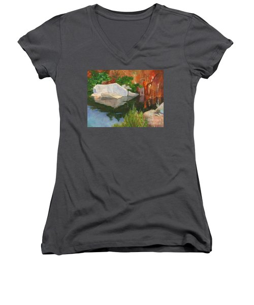 Rockport Quarry Reflection Women's V-Neck (Athletic Fit)