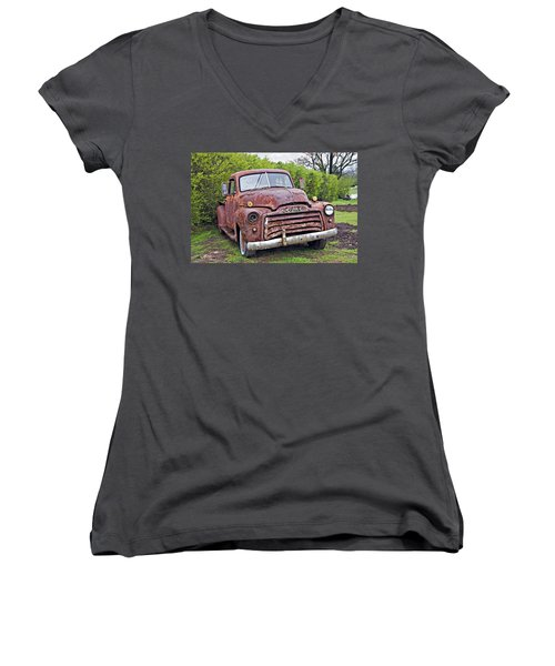 Sad Truck Women's V-Neck (Athletic Fit)