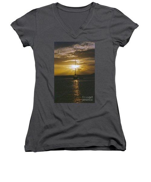Sailing Sunset Women's V-Neck