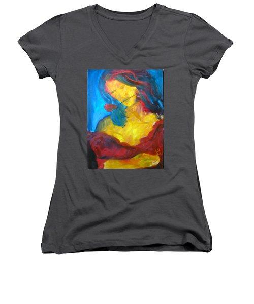 Sangria Dreams Women's V-Neck T-Shirt (Junior Cut) by Keith Thue