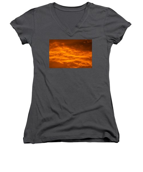 Sky Of Fire Women's V-Neck (Athletic Fit)