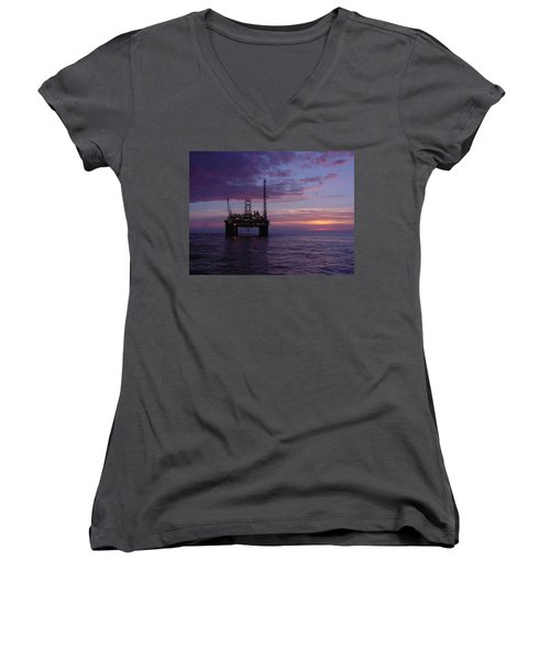 Snorre Sunset Women's V-Neck (Athletic Fit)