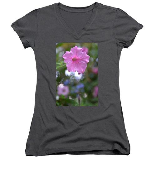 Soft Pink Women's V-Neck T-Shirt