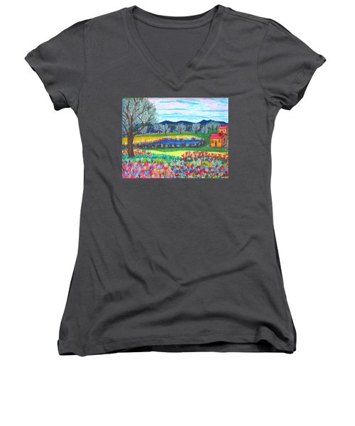 Somewhere Else Women's V-Neck T-Shirt