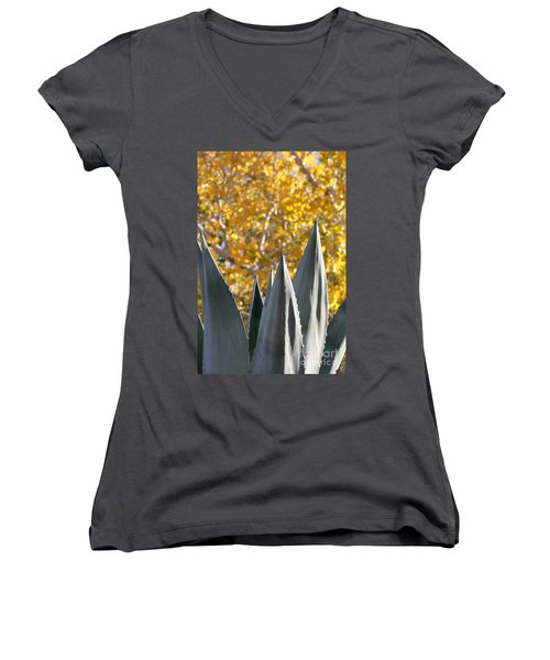 Spikes And Leaves Women's V-Neck T-Shirt