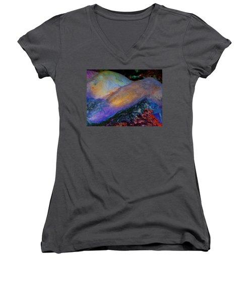 Women's V-Neck T-Shirt (Junior Cut) featuring the digital art Spirit's Call by Richard Laeton