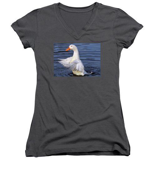 Stand Up And Shout Women's V-Neck