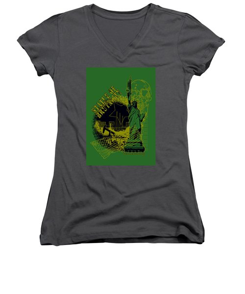 Statue Of Brutality  Women's V-Neck (Athletic Fit)