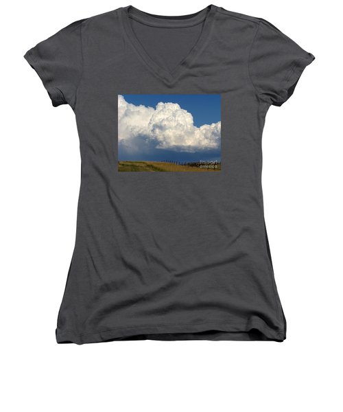 Storm's A Brewin' Women's V-Neck (Athletic Fit)