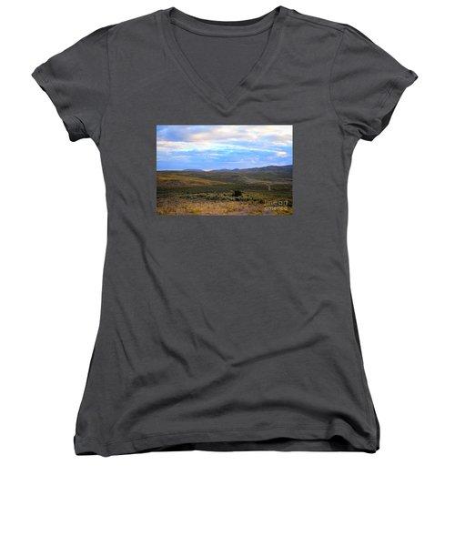 Stormy Wyoming Sunrise I Women's V-Neck