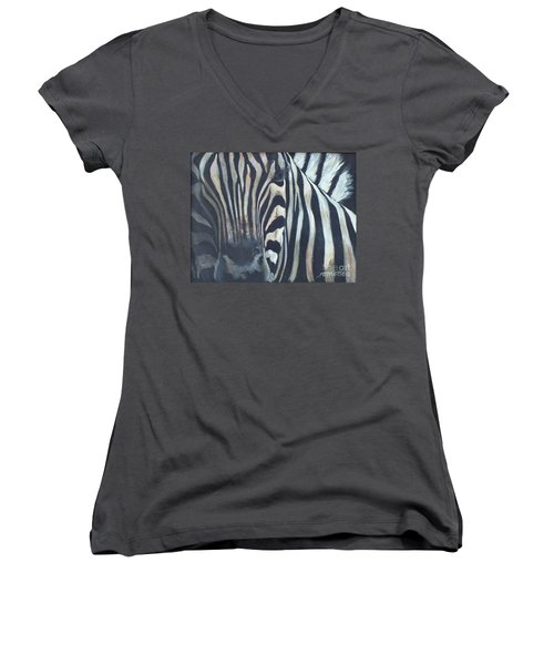 Stripes...sold  Women's V-Neck (Athletic Fit)