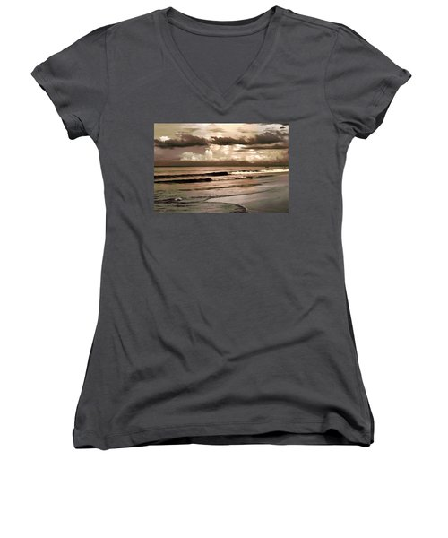 Summer Afternoon At The Beach Women's V-Neck