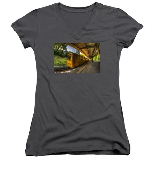 Summer Eveing Train. Women's V-Neck (Athletic Fit)