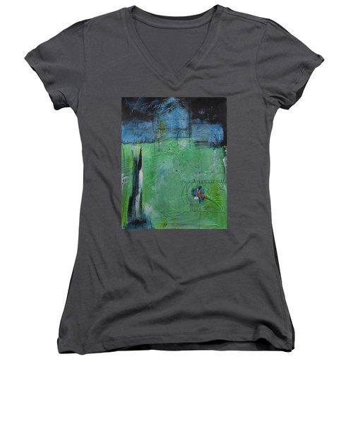 Summer Women's V-Neck T-Shirt (Junior Cut) by Nicole Nadeau