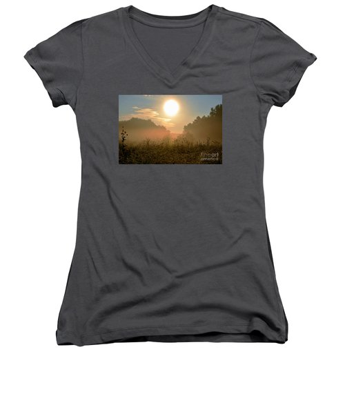Sunny Side Up Women's V-Neck (Athletic Fit)