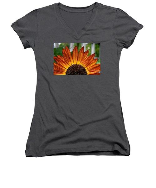 Sunrise Floral Women's V-Neck (Athletic Fit)