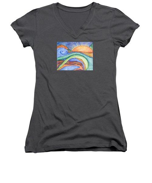 The Sunrise Women's V-Neck T-Shirt