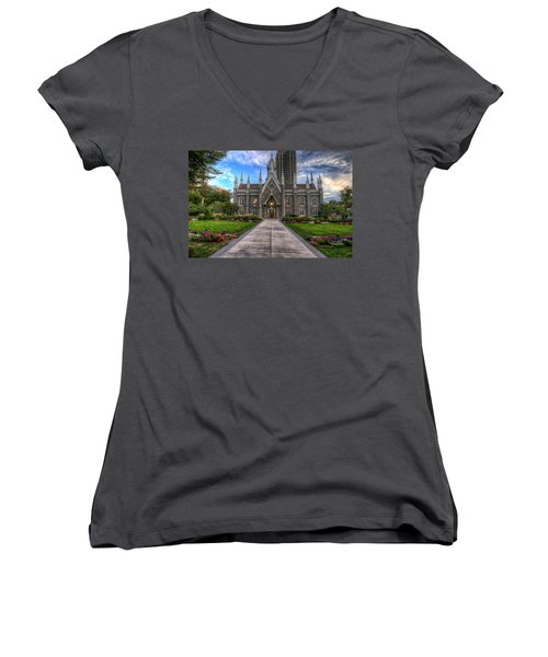Temple Square Assembly Hall Women's V-Neck