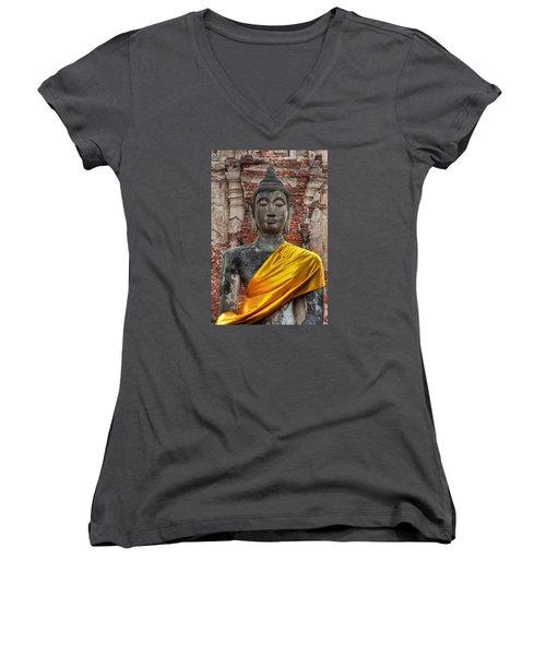 Thai Buddha Women's V-Neck