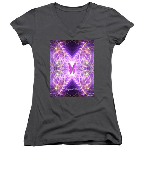 The Angel Of Wishes Women's V-Neck