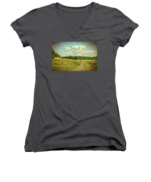 The Farm Road Women's V-Neck T-Shirt