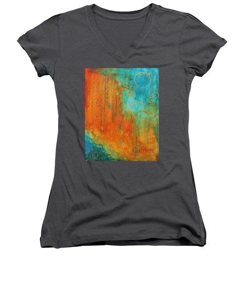 The Garden Women's V-Neck T-Shirt (Junior Cut) by Nicole Nadeau