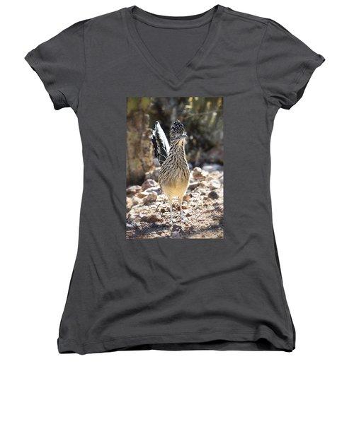 The Greater Roadrunner  Women's V-Neck T-Shirt