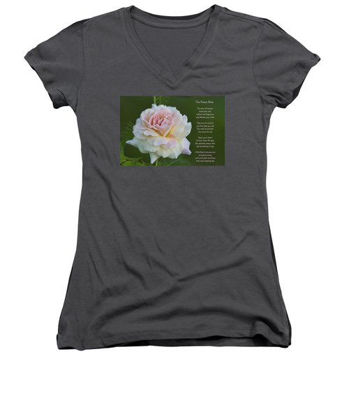 The Peace Rose Women's V-Neck (Athletic Fit)