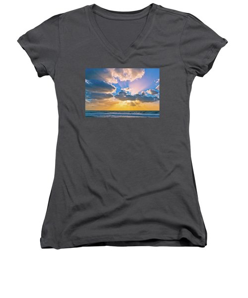 The Sea In The Sunset Women's V-Neck