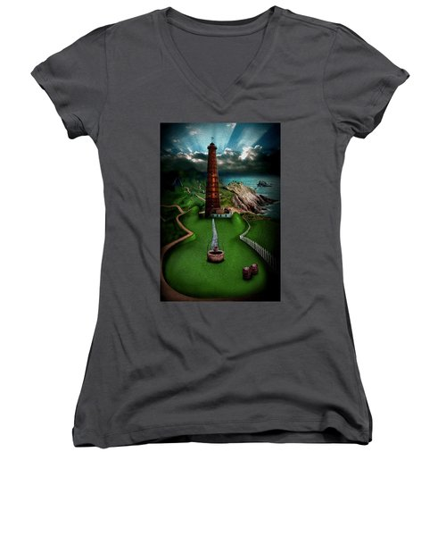 The Sound Of Silence Women's V-Neck (Athletic Fit)