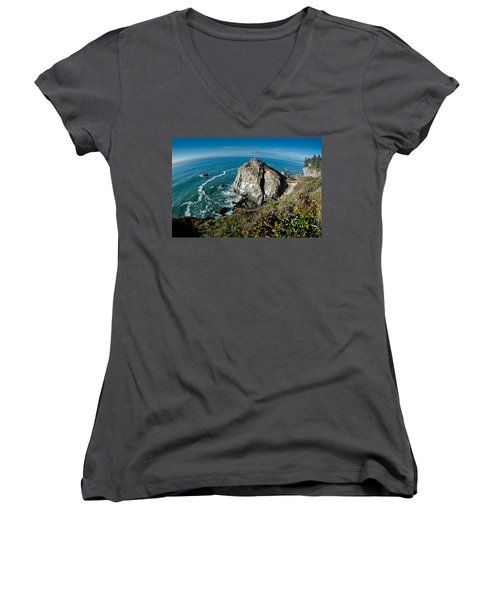 The World Is Round Women's V-Neck (Athletic Fit)