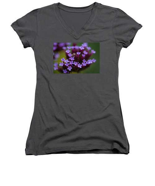 tiny blossoms II Women's V-Neck T-Shirt (Junior Cut) by Andreas Levi