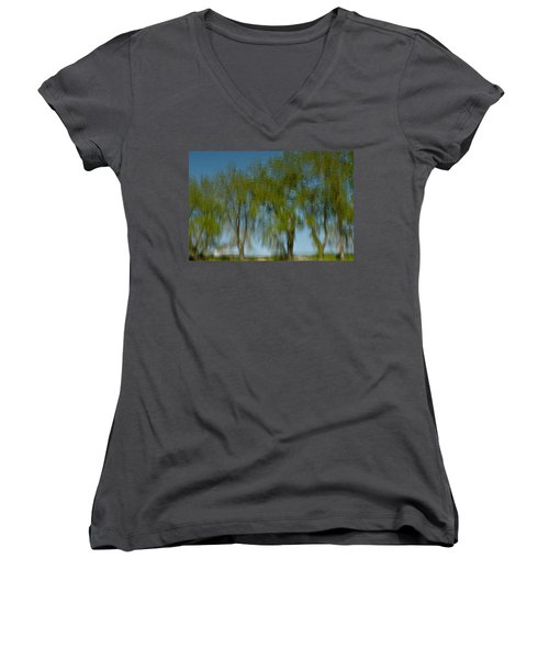 Tree Line Reflections Women's V-Neck (Athletic Fit)
