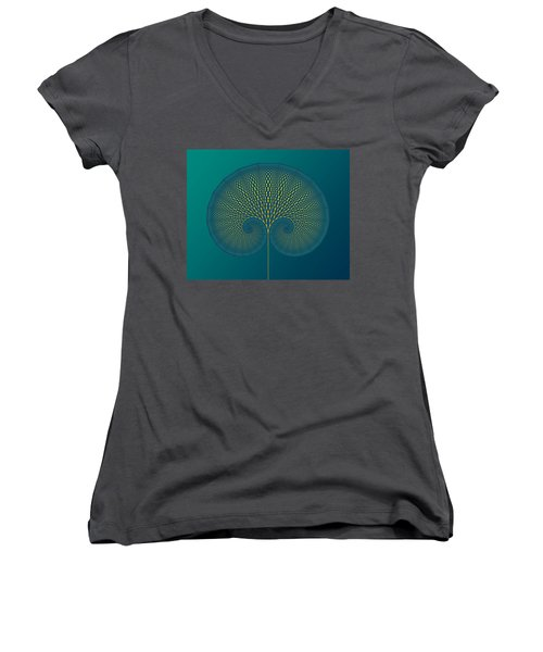 Tree Of Well-being Women's V-Neck T-Shirt (Junior Cut) by Mark Greenberg