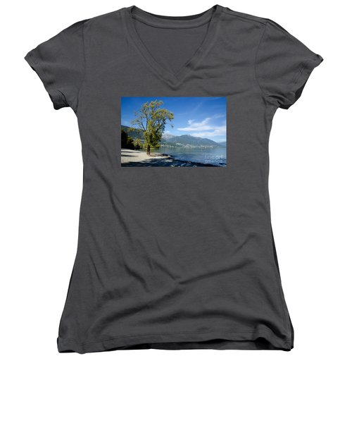 Tree On The Beach Women's V-Neck