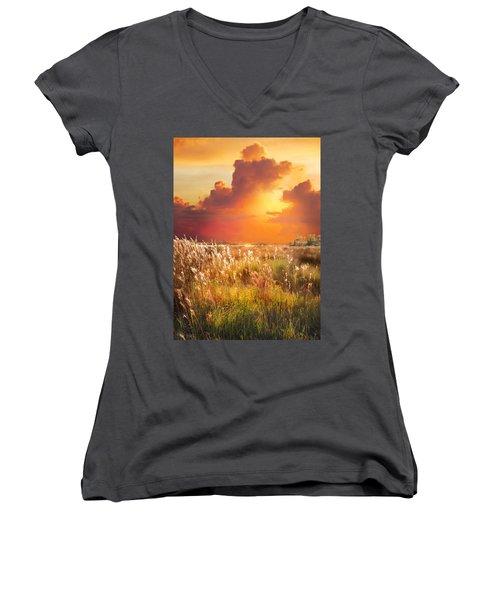 Tropical Savannah Women's V-Neck T-Shirt