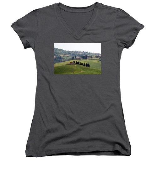 Tuscany Women's V-Neck T-Shirt (Junior Cut) by Carla Parris