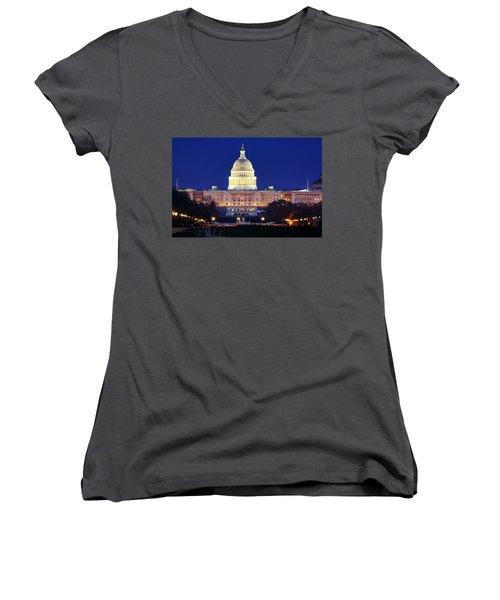 U.s. Capitol Women's V-Neck