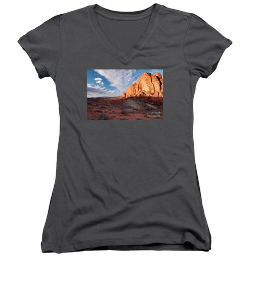 Valley Of Fire Women's V-Neck