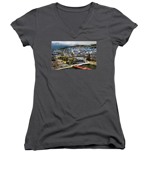 View Fromthe Top Women's V-Neck T-Shirt