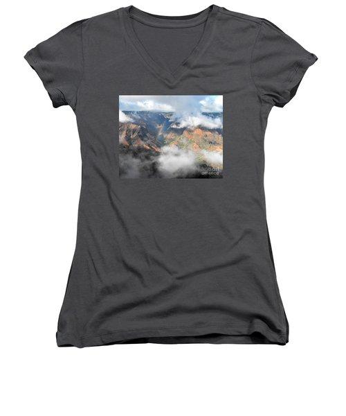 Waimea Canyon Rainbow Women's V-Neck T-Shirt