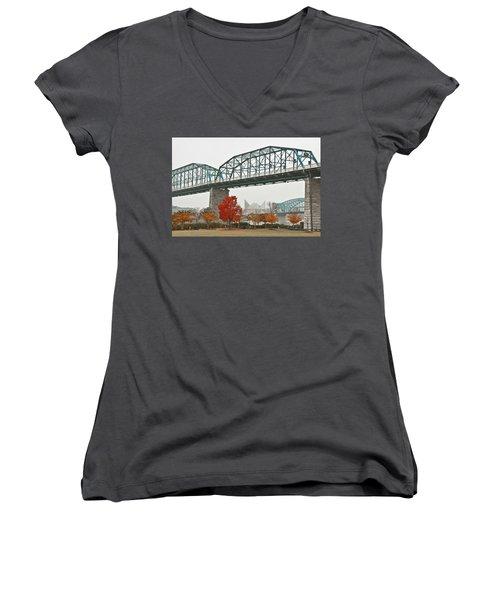 Walnut Street Bridge Women's V-Neck
